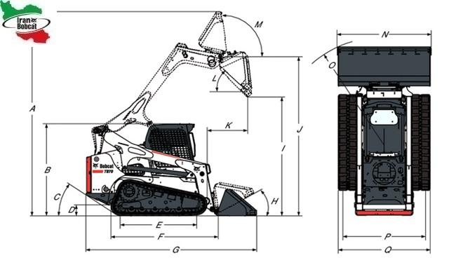 مینی لودر بابکت T870 لاستیک شنی زنجیری